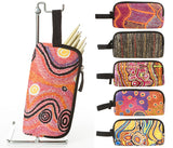 Pencil cases featuring aboriginal art.