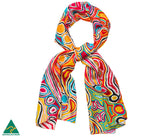 Silk scarf with Aboriginal design