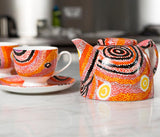 Aboriginal art on ceramics - Otto Jungarrayi Sims