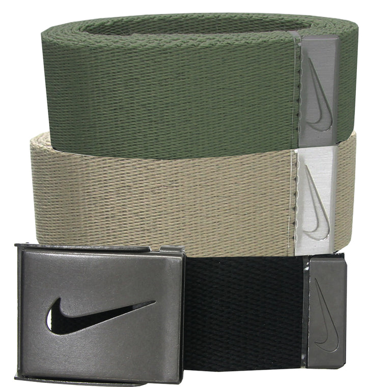Nike Golf Men's 3-in-1 Web Belt - One Size Fits Most