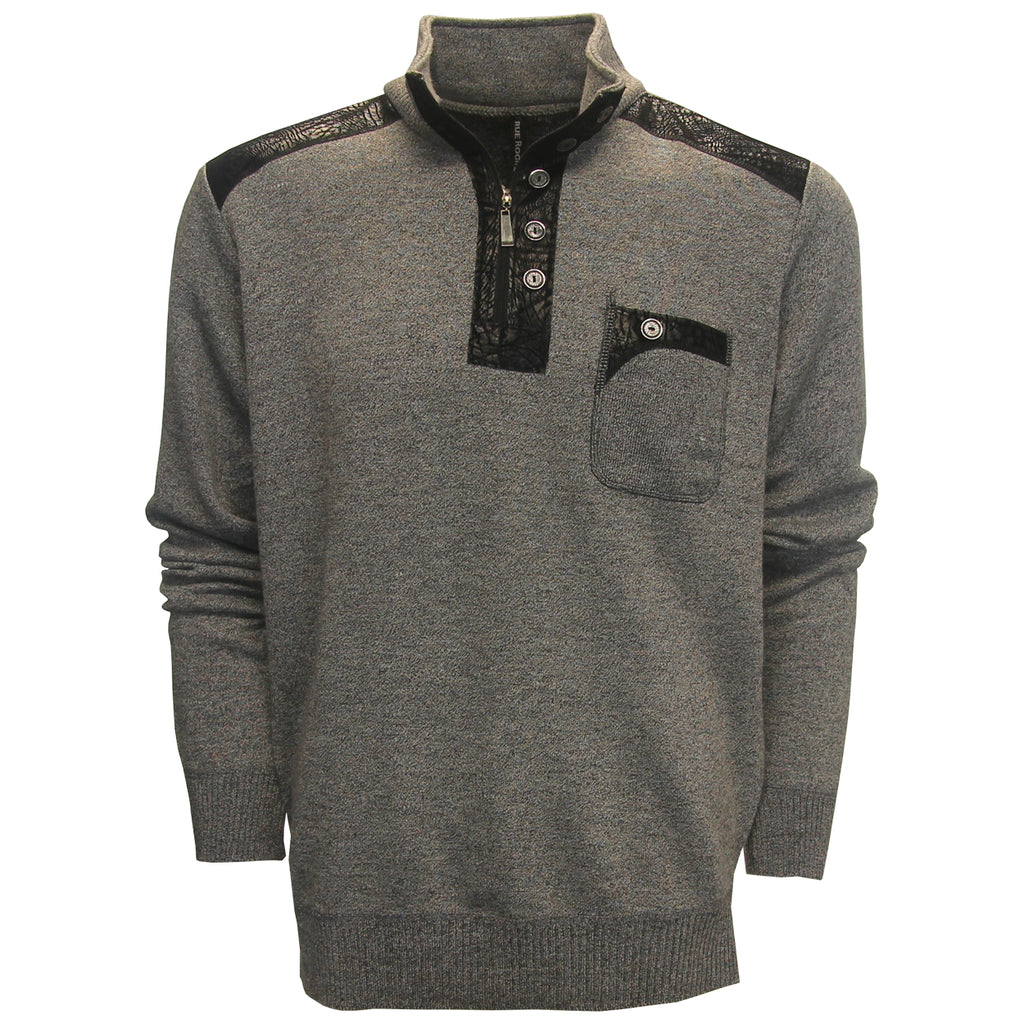True Rock December Half-Zip Pocket Golf Sweater