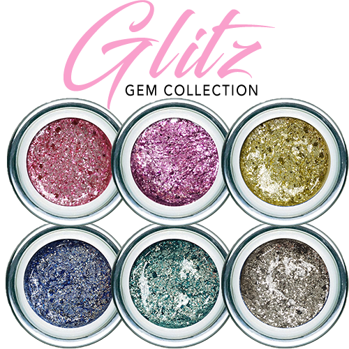 Gel Play GLITZ Collection 4g Full Size x 9