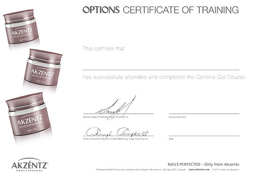 Options Certificate Kit