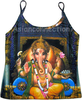 LORD GANESH Hindu God Fine Art Print Shirt Singlet TANK TOP S M L XL