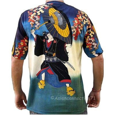 KABUKI Actor Japanese Ukiyoe Japan Art Print Short Sleeve T-Shirt Mens M L XL