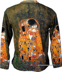 THE KISS Gustav Klimt Long Sleeve Fine Art Print T Shirt MENS M L XL