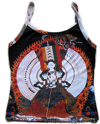 KANNON Buddhist Goddess of Mercy Hindu Fine Art PN Shirt TANK TOP Misses S Small