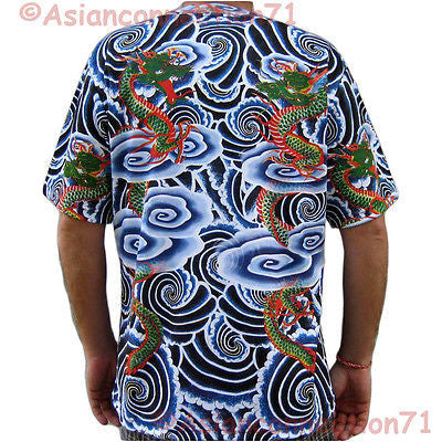 Japanese DRAGON Irezumi TATTOO New PN Japan Art Print Biker T Shirt Mens M L XL