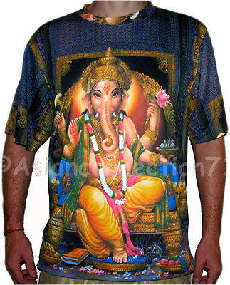 LORD GANESH Hindu God Ganapati Art Print Namaste Short Sleeve T Shirt MENS M L XL