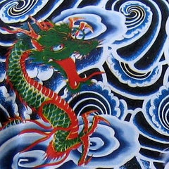 Japanese RYU DRAGONS Biker Tattoo IREZUMI Art Print T Shirt LONG SLEEVE Mens M L XL