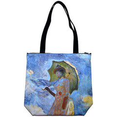 WOMAN with PARASOL Claude MONET Fine Art Bag Purse Messenger Tote S or L New PN