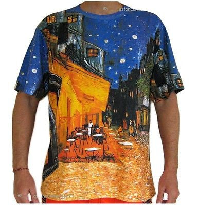 Van Gogh Cafe Terrace At Night New Fine Art Hand Print PN T Shirt Mens XL PN