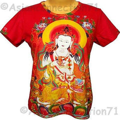 GUANIM Goddess of Mercy Hindu Buddha Cap Sleeve Art T Shirt Misses S M L XL