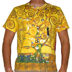 TREE OF LIFE Gustav Klimt Fine Art Print T Shirt MENS Short Sleeve M L XL New PN