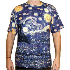 Vincent Van Gogh STARRY NIGHT Vincent Van Gogh Fine Art Hand Print T Shirt Mens M L XL