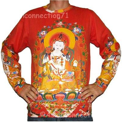 GUANIM Buddhist Goddess of Mercy Fine Art Long Sleeve PN T Shirt MENS M L XL