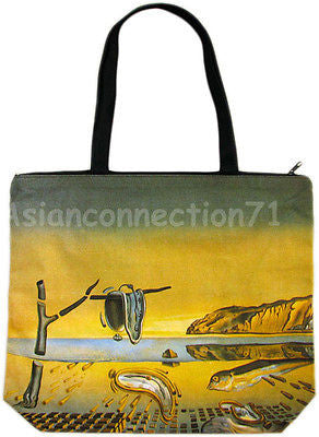 DISINTEGRATION OF MEMORY Salvador Dali Art Print Bag Purse Messenger Tote S or L