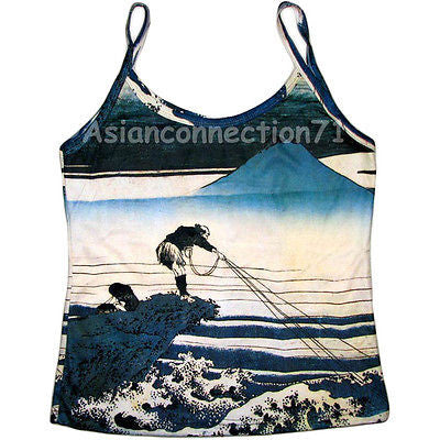 Fisherman Ukiyoe Japanese Art Print Shirt Singlet TANK TOP Misses S M L XL by PN