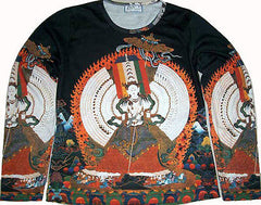 KANNON Buddha Goddess Long Sleeve Hindu Fine Art T Shirt Misses Size S M L XL PN