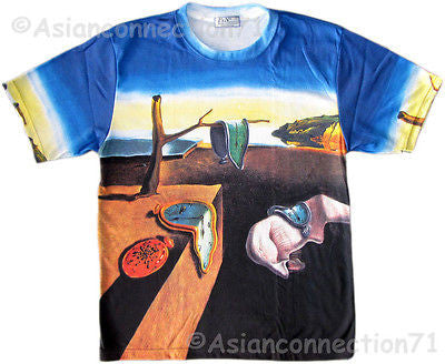 Salvador DALI Persistence of Memory Fine Art Print T Shirt Mens M L XL Short Sleeve