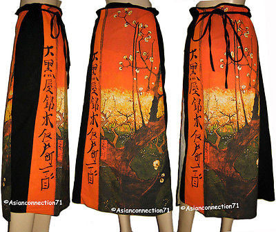 Van Gogh PLUM TREES IN BLOOM Freesize Cotton Wrap Fine Art Print Skirt S-XL