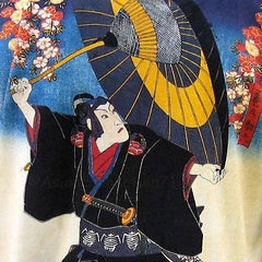 KABUKI Japanese Ukiyoe Japan Art Print LONG Sleeve T Shirt Misses S M L XL New