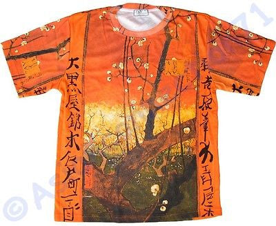 Van Gogh PLUM TREES IN BLOOM Japonisme Fine Art Print T Shirt MENS M L XL New PN