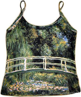 WATER LILY POND Monet Fine Art Print Shirt Singlet TANK TOP Miss S M L XL New