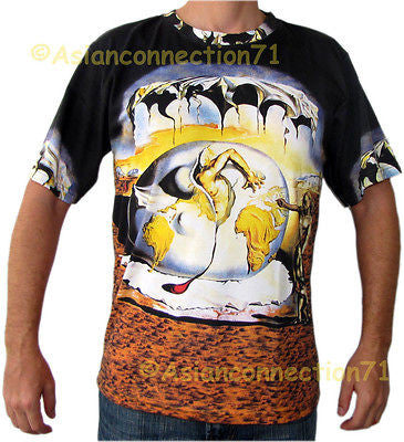 DALI Geopoliticus Child Watching Birth of New Man T Shirt Mens M L XL Short Sleeve