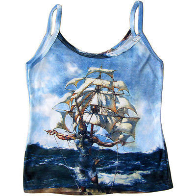Salvador DALI The Ship Fine Art Shirt Singlet TANK TOP Misses S M L XL New PN