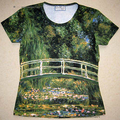 Monet WATER LILY POND Art Print T-shirt Misses S M L XL
