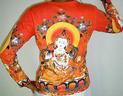 GUANIM Buddhist Goddess of Mercy LONG SLEEVE Hindu Art PN T Shirt Miss S M L XL