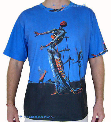 BURNING GIRAFFE Salvador Dali Fine Art Print Short Sleeve T Shirt Mens M L XL
