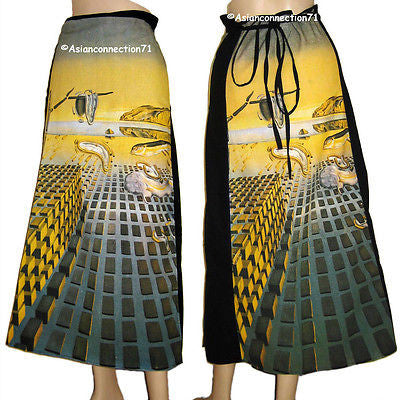 DISINTEGRATION OF MEMORY Salvador Dali Fine Art Print Freesize Long Wrap Skirt