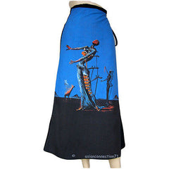 Salvador Dali BURNING GIRAFFE New Freesize Wrap Fine Art Print Skirt Long by P&N