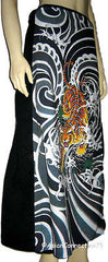 Japanese Tiger Irezumi Japan Tattoo Freesize Long Cotton Wrap Skirt S-XL