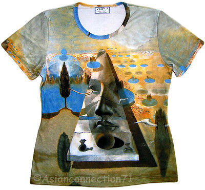 DALI Pyramid Of Fortune Fine Art Print T Shirt Misses Cap Sleeve S M L XL