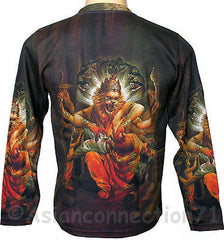 NARASIMHA VISHNU Hindu God LONG SLEEVE Fine Art Print T Shirt Mens M L XL