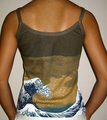 GIANT WAVE Hokusai Japan Ukiyoe Art Print Shirt Singlet TANK TOP Misses S M L XL