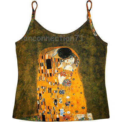 Klimt THE KISS Art Print Shirt Singlet TANK TOP Misses S M L XL