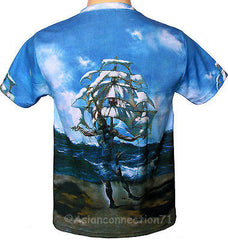 Salvador Dali THE SHIP Fine Art Print T Shirt Mens M L XL Short Sleeve