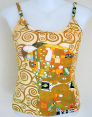 Klimt THE EMBRACE Fine Art Print Shirt Singlet TANK TOP Misses S M L XL New PN