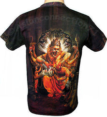 Hindu NARASIMHA VISHNU God Fine Art Hand Print Short Sleeve T Shirt MENS M L XL