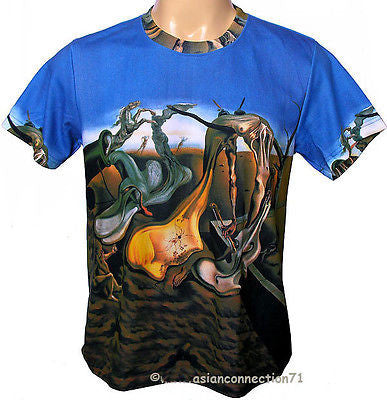 Salvador Dali DADDY LONGLEGS EVENING HOPE Hand Print Fine Art T Shirt Mens M L XL
