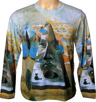 PYRAMID of FORTUNE Salvador Dali Long Sleeve Fine Art Print PN T Shirt Mens M L XL