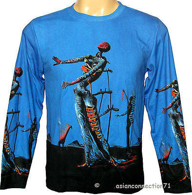 SALVADOR DALI BURNING GIRAFFE Long Sleeve Fine Art Print PN T Shirt Mens M L XL