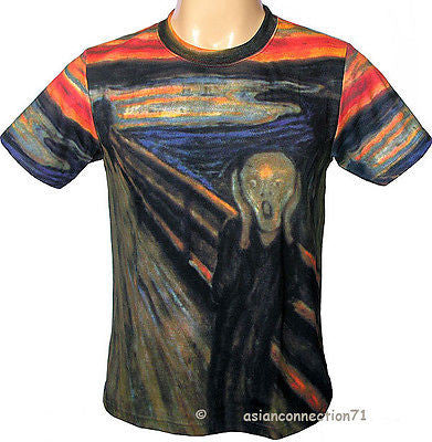 Edvard Munch THE SCREAM Fine Art Print T Shirt Men's M L XL Short Sleeve