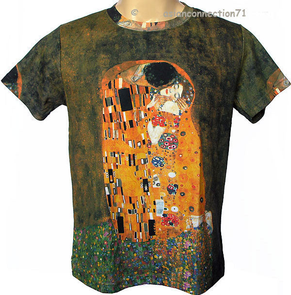 Gustav Klimt THE KISS New Art Print T Shirt MENS M L XL