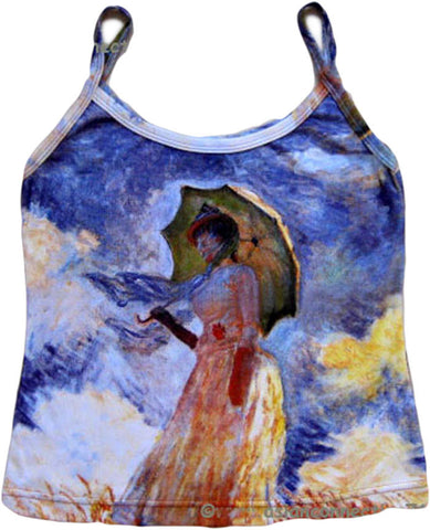 Monet WOMAN with PARASOL Fine Art Print Shirt Singlet TANK TOP Misses S M L XL