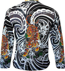 TIGER IREZUMI Japanese Tattoo LONG SLEEVE Japan Biker T Shirt Mens M L XL